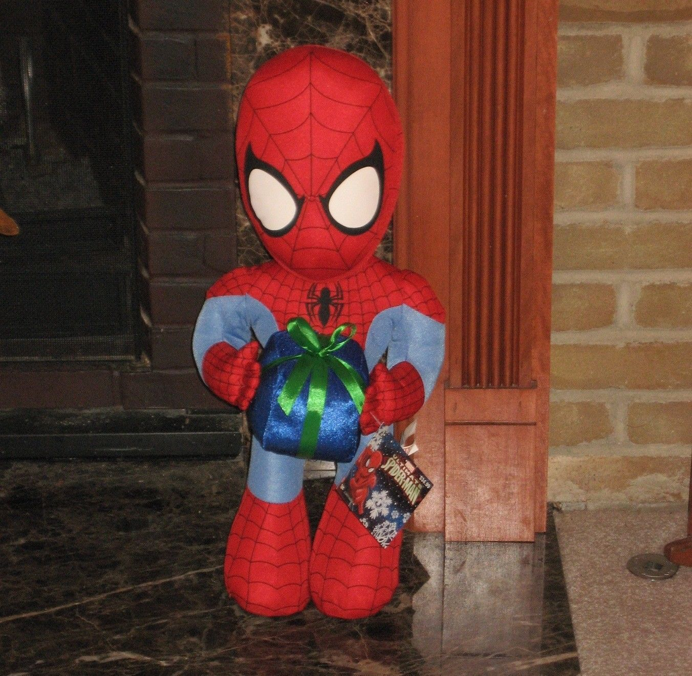 New Huge Ultimate Spider Man Christmas Holiday Hero Greeter Plush Doll 23  Tall