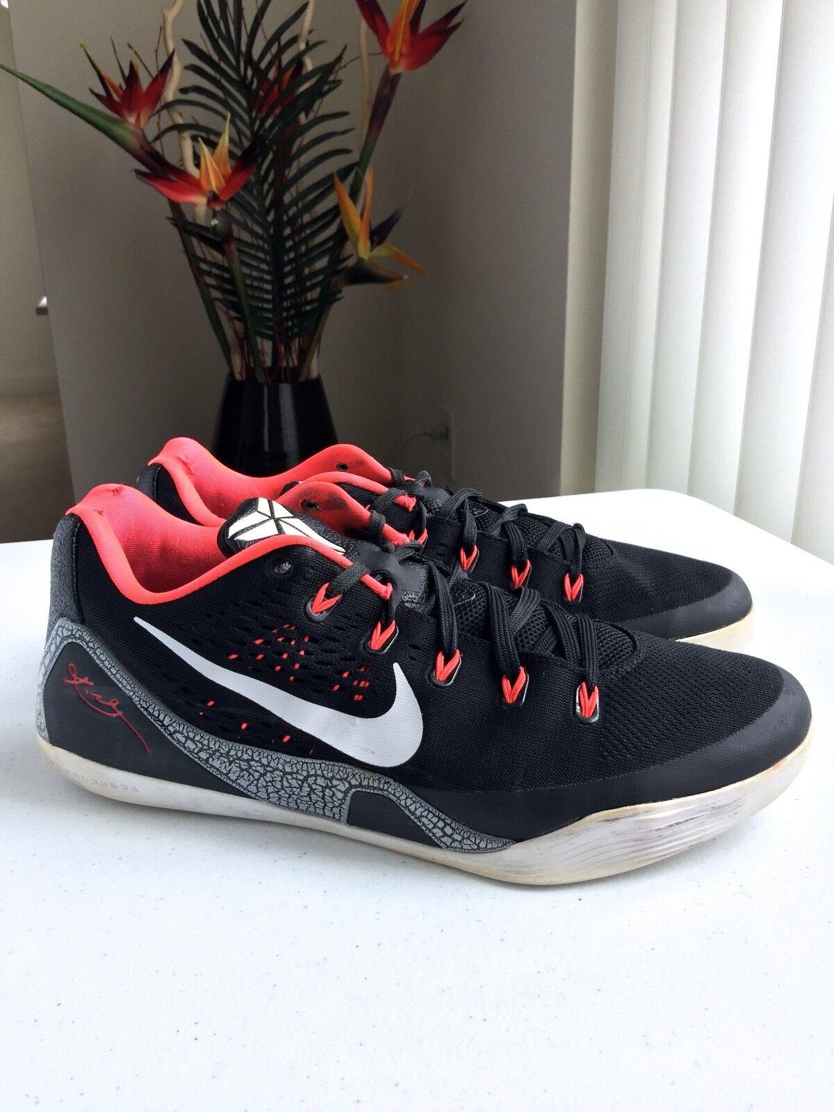 info for 68556 e5c56 Nike Kobe IX IX IX 9 EM Black Laser Crimson White Sz 11.5 US c70742
