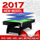 NEW! 8FT MODERN DESIGN POOL TABLE SNOOKER BILLIARD + PING PONG / POKER TOP