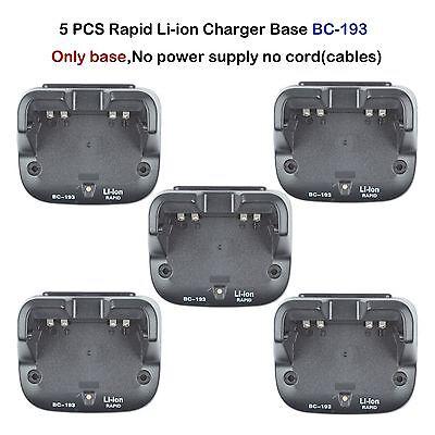 5x Rapid Li-ion Charger Base For ICOM IC-F4001, IC-F4003, IC-4101 Portable Radio