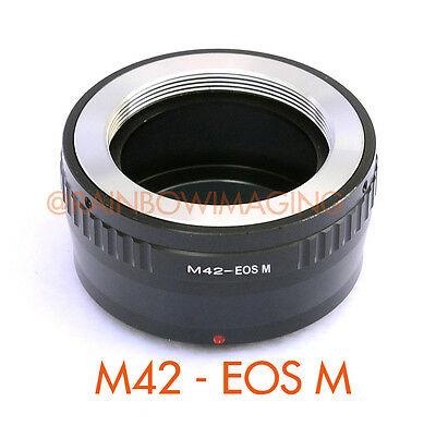 Adjustable M42 42mm Lens to CANON EOS M EF-M Mirrorless Camera M5 M6 M10 Adapter
