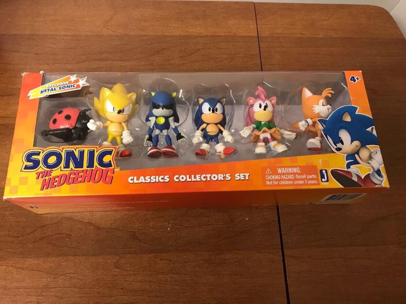 Sonic Hedgehog Clásicos Coleccionistas Conjunto De Metal Conjunto De Acción De Juguete Súper Rara colas