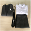 Super Danganronpa Fuyuhiko Kuzuryu High School Uniform Cosplay Costume Suit Wig