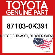 Toyota Genuine Oem 87103 0k391 Motor Sub Assy Blower Withfan 871030k391