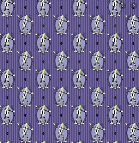 Beetlejuice es Showtime púrpura Camelot cuarto Gordo Tela Algodón 100/%
