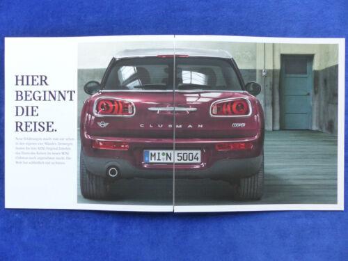 Mini Clubman Prospekt Brochure 10.2015 Zubehör MJ 2016