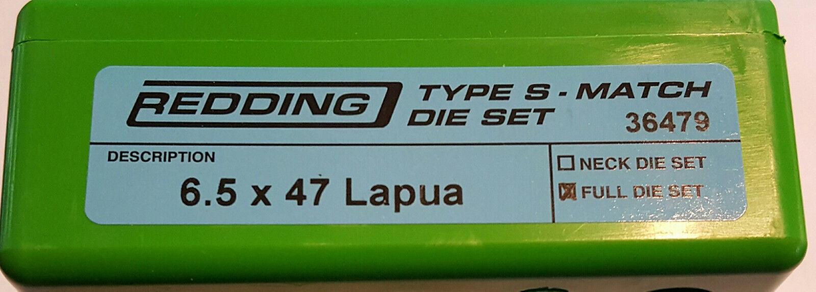 36479 rojoDING Tipo S Set Completo Completo Completo Die coincide con Buje - 6.5 X 47 Lapua-totalmente Nuevo 324d1f