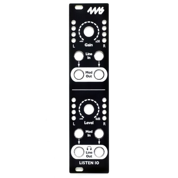 4ms Listen Io Replacement Panel (black)