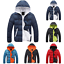 Casual-Men-Winter-Solid-Hooded-Thick-Padded-Jacket-Zipper-Outwear-Coat-Warm-Lot thumbnail 1