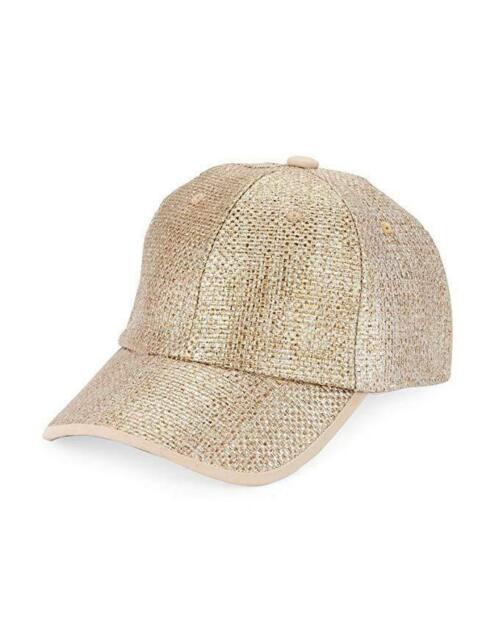 Collection XIIX Women/'s Metallic Straw Baseball Cap Bronze One Size New NWT