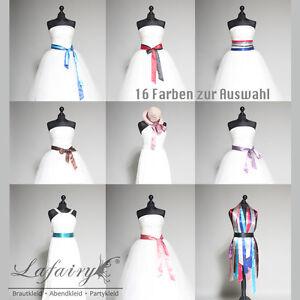 Satinband Gürtel Zopfband Schleife Lafairy für Kleid Hut Frisur Taschentücher