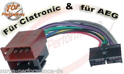 Aeg/prology Clatronic Autoradio Cavo Radio Adattatore Iso Spina Nuovo Ovp-