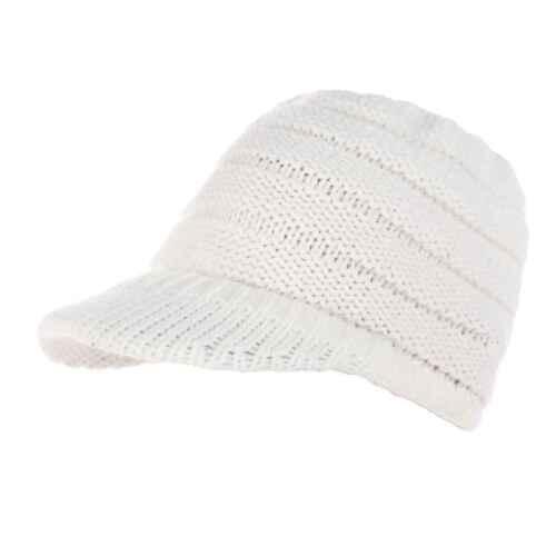 Women Knit Hat Baseball Cap Girl Casual Crochet Unisex Winter Visor Beanie ch