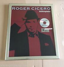 Roger Cicero Platin Award ( goldene Schallplatte ) Beziehungsweise - 2008