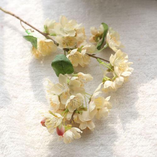 Artificial Fake Flowers Leaf-Cherry Blossoms Floral Wedding Bouquet Party L