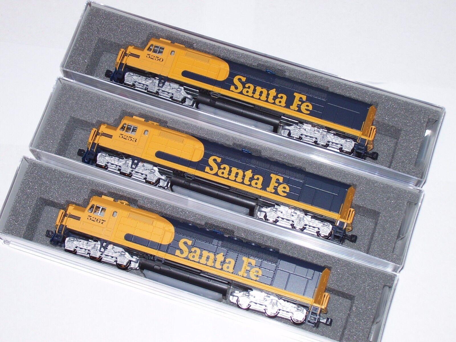 Kato N  Santa Fe 3 Loco Set 1769211DCC 1769212DCC 1769213DCC  SDP40F Type IVa