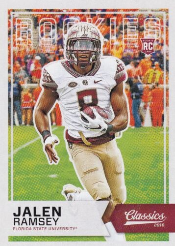 2016 Panini Classics Football Walker, #252 jalen Ramsey rookie