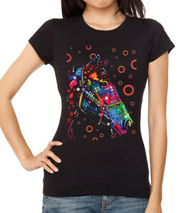 New Junior's Neon Horse Black T Shirt Animal Jokey Cowgirl ...