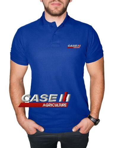 Case IH Agriculture Camiseta Camisa Polo T Shirt BORDADO ALGODÓN Logo Hombre
