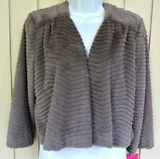 Sunny Leigh Minetta Lane Mink Faux Fur Boloreo Jacket Shrug Women's New $78