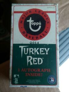 2014-Topps-Turkey-Red-MLB-Baseball-Factory-Sealed-Pack-1-Auto-Autograph-Per-Box