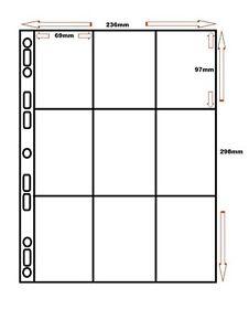 10-x-9-POCKET-BASEBALL-CARD-TRADE-CARD-ALBUM-SLEEVES