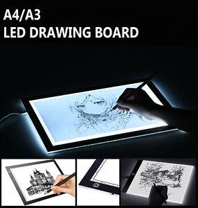A4-LED-Drawing-Board-Light-Box-Slim-Tracing-Pad-Copy-Tattoo-Art-Craft-Stencil-A3