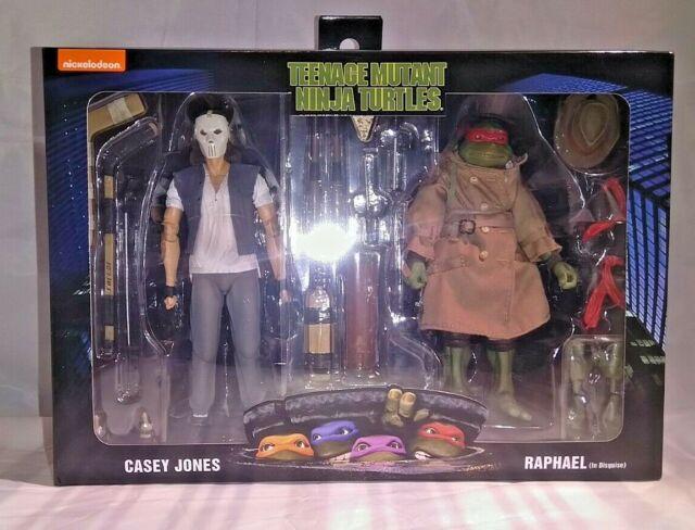 NECA Teenage Mutant Ninja Turtles TMNT 2 Pack Casey Jones & Raphael In Disguise
