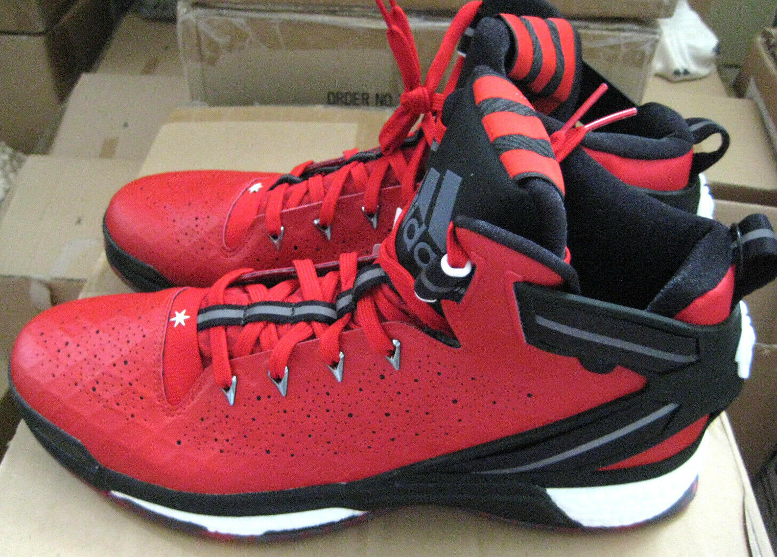 Adidas D Rose 6 Boost Rouge s95533 baketball Chaussures De Loisirs Rouge Boost Noir 012871