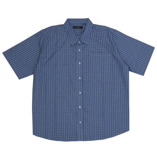 Pierre Roche Mens Short Sleeve Check Shirt