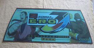 2001 Capcom Street Fighter Zero 3 Upper Header Arcade Gaming