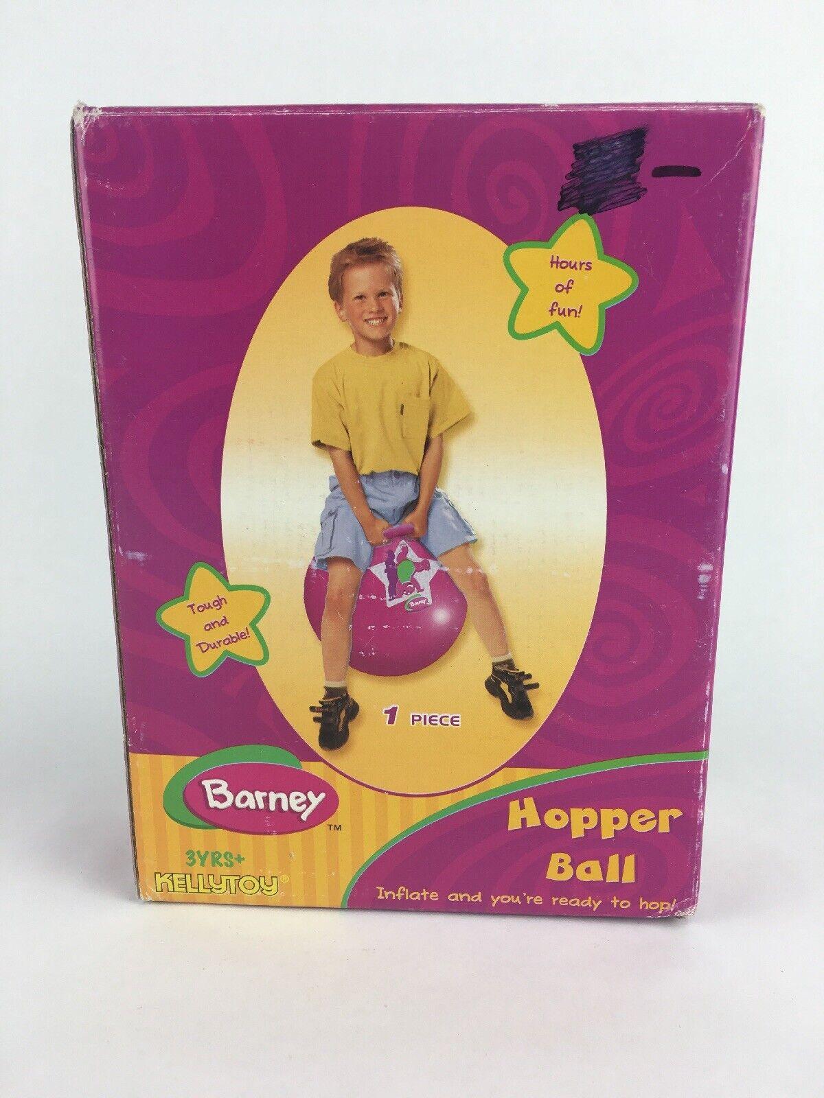 årgång 2007 Barney lila Dinosaur Hopper Ball Bouncy Ride On Ball NY