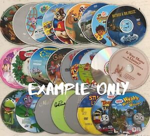 Lot-of-200-Loose-DVD-039-s-Children-Kids-Movies-amp-Shows