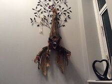 Scary cackling moving bat sound & light up effect Halloween decoration