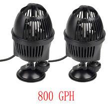 2 PCS Circulation Pump Wave Maker 800 GPH Aquarium Powerhead Suction Cup Mount