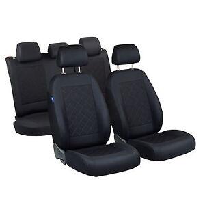 Schwarze Sitzbezüge für Alle FIAT Autos Autositzbezug VORNE