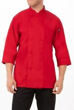 New Chef Works Unisex Morocco Chef Coat Red 34 Sleeve 3xl Lightweight Amp Cool