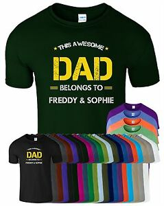 f1c334de Father's Day Gift THIS AWESOME DAD Mens T shirt BELONGS TO ...