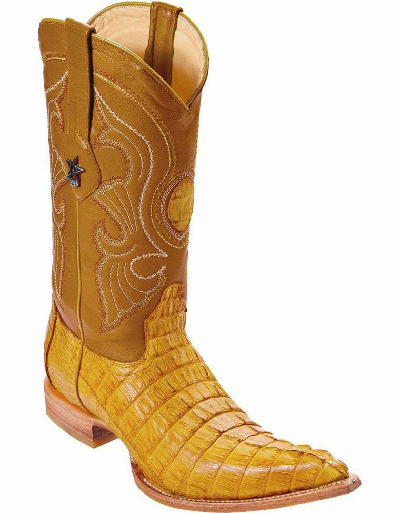 Los Altos Genuine BUTTERCUP Caiman CROCODILE Tail 3x Toe Western Cowboy avvio D