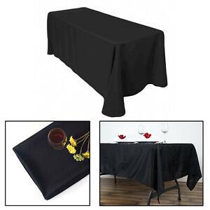 Table-Housse-en-Tissu-Polyester-rectangle-Mariage-Anniversaire-de-salle-a-manger-decoration-70x144