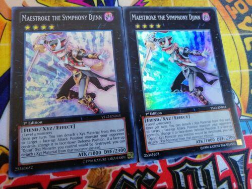 Super Yu-Gi-Oh! 2 x Maestroke the Symphony Djinn ys12-en043 1st MINT