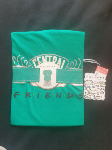 BNWT PRIMARK FRIENDS CENTRAL PERK PYJAMAS PJ/'S VEST /& SHORTS JERSEY