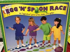"Egg and Spoon Race Game - 4 Eggs 2"" & 4 Spoons 7."" Floor Mats Set the Course Fun"