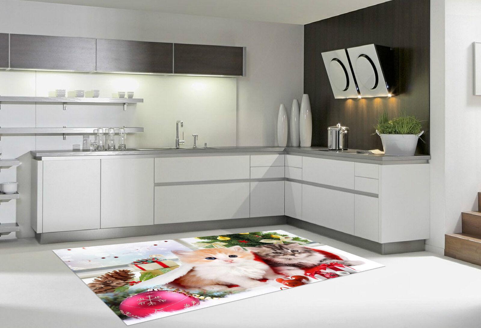 3D Funny Cats 262 Kitchen Mat Floor Murals Wall Print Wall Deco AJ WALLPAPER CA