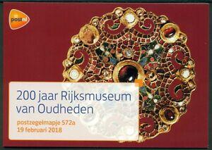 NEDERLAND-PZM-572-A-B-RIJKSMUSEUM-VAN-OUDHEDEN-ZEGELS-GEGOMD