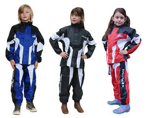 Wulfsport-Cub-Two-Piece-Waterproof-Set-Trouser-amp-Jacket-MX-Motocross-Kids-Suit