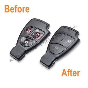 Mercedes SLK 2 / 3 Button Remote Key Fob Repair Refurbishment Service All Models