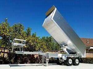 Aluminum-Motor-power-Lift-Dump-Bed-Trailer-for-Tamiya-RC-1-14-King-Grand-Hauler