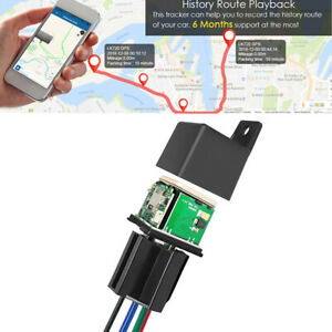 Hidden Car Tracking Relay GPS Tracker Phone APP Alarm Anti-theft Kill Fuel Pump