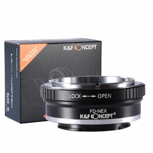 K-amp-F-Concept-Lens-Adapter-For-Canon-FD-FL-Lens-to-Sony-NEX-E-Mount-Sony-Alpha